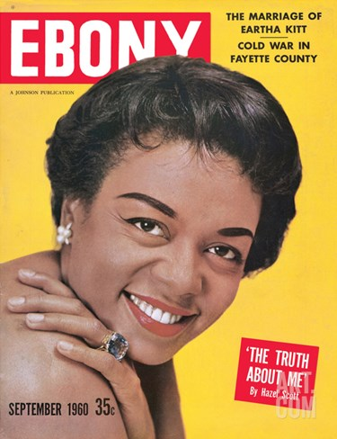 Ebony September 1960 Stretched Canvas Print