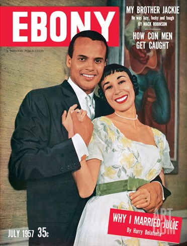 Ebony July 1957 Stretched Canvas Print