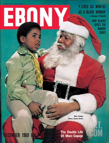 Ebony December 1969 Stretched Canvas Print