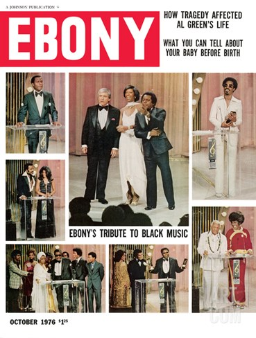 Ebony October 1976 Stretched Canvas Print