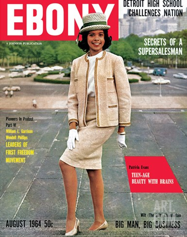 Ebony August 1964 Stretched Canvas Print