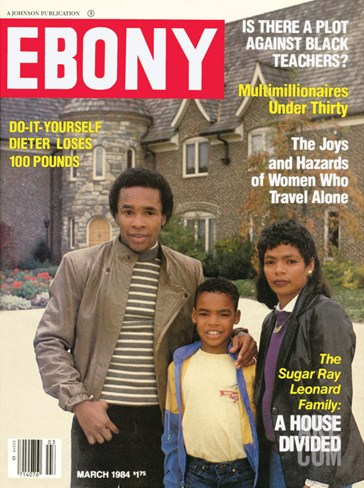 Ebony March 1984 Stretched Canvas Print