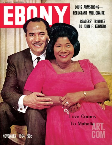 Ebony November 1964 Stretched Canvas Print