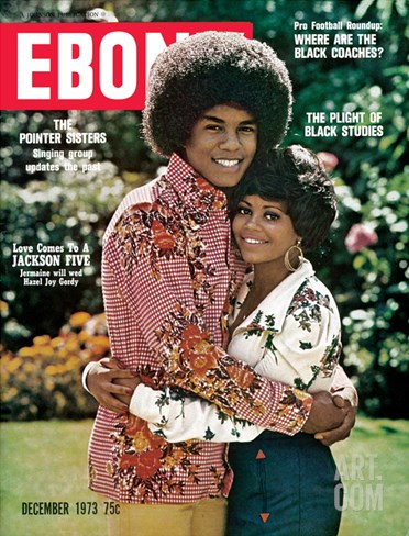 Ebony December 1973 Stretched Canvas Print