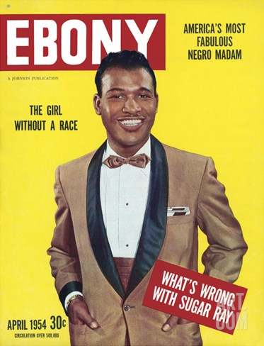 Ebony April 1954 Stretched Canvas Print