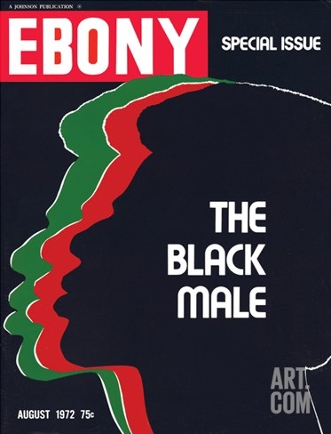 Ebony August 1972 Stretched Canvas Print