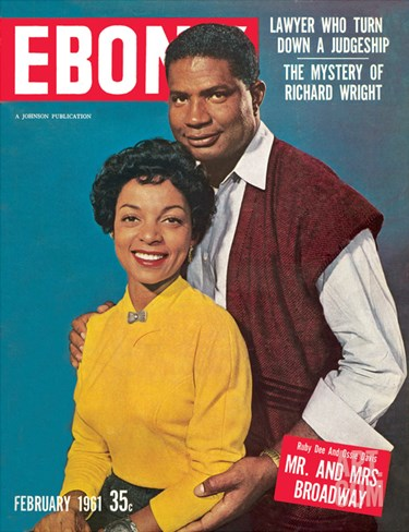 Ebony February 1961 Stretched Canvas Print
