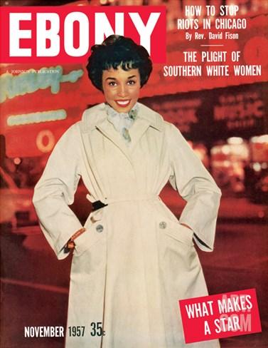 Ebony November 1957 Stretched Canvas Print