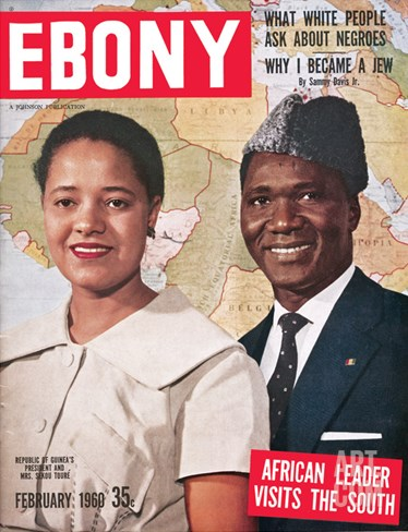 Ebony February 1960 Stretched Canvas Print