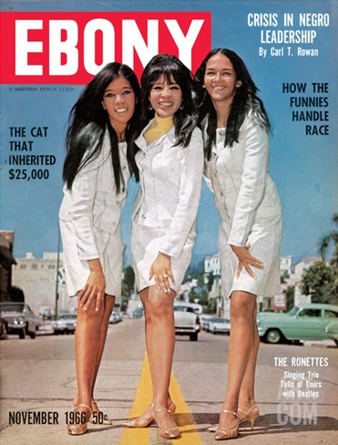 Ebony November 1966 Stretched Canvas Print
