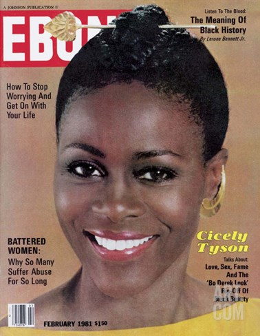 Ebony February 1981 Stretched Canvas Print