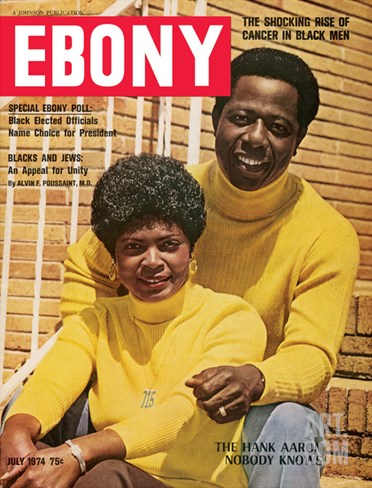 Ebony July 1974 Stretched Canvas Print