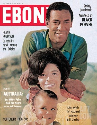 Ebony September 1966 Stretched Canvas Print