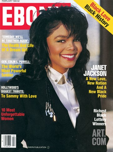 Ebony February 1990 Stretched Canvas Print