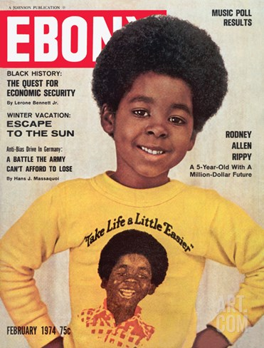 Ebony February 1974 Stretched Canvas Print