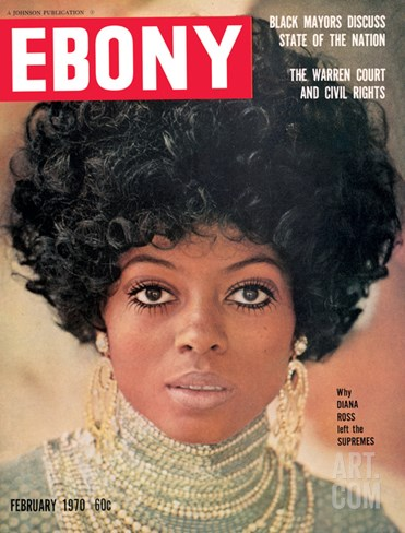 Ebony February 1970 Stretched Canvas Print