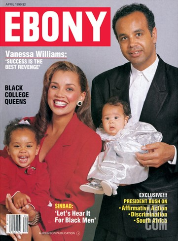 Ebony April 1990 Stretched Canvas Print