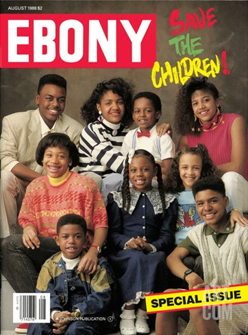Ebony August 1988 Stretched Canvas Print