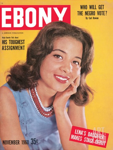 Ebony November 1960 Stretched Canvas Print