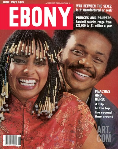 Ebony June 1979 Stretched Canvas Print