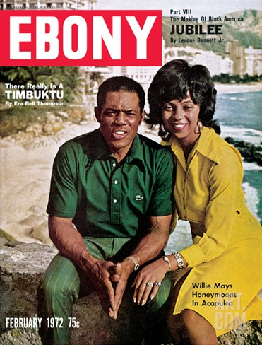 Ebony February 1972 Stretched Canvas Print
