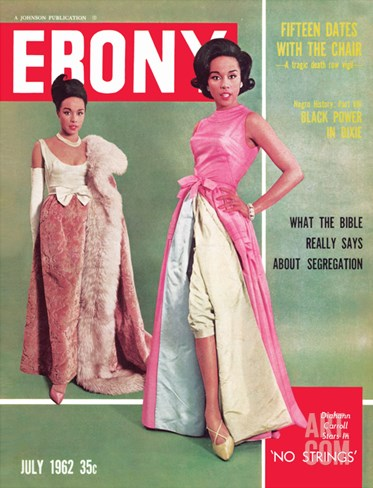 Ebony July 1962 Stretched Canvas Print