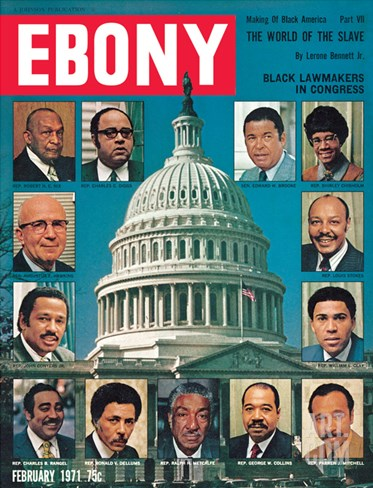 Ebony February 1971 Stretched Canvas Print