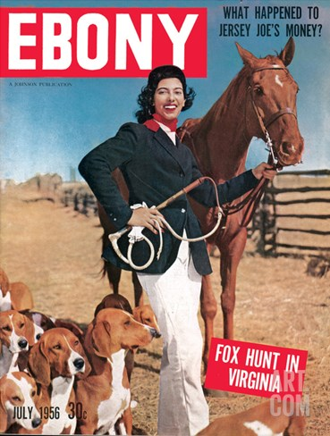 Ebony July 1956 Stretched Canvas Print
