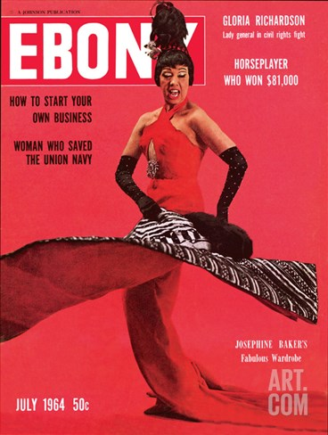 Ebony July 1964 Stretched Canvas Print