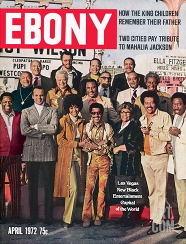 Ebony April 1972 Stretched Canvas Print
