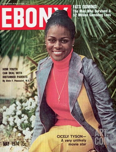 Ebony May 1974 Stretched Canvas Print