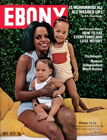 Ebony July 1973 Stretched Canvas Print