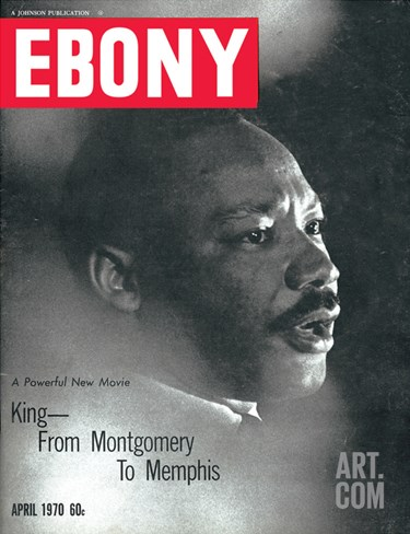 Ebony April 1970 Stretched Canvas Print