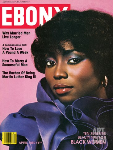 Ebony April 1982 Stretched Canvas Print