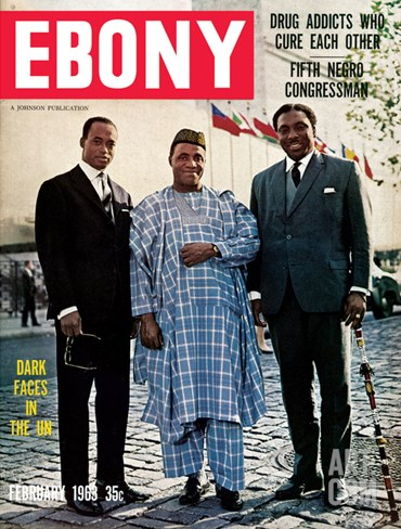 Ebony February 1963 Stretched Canvas Print