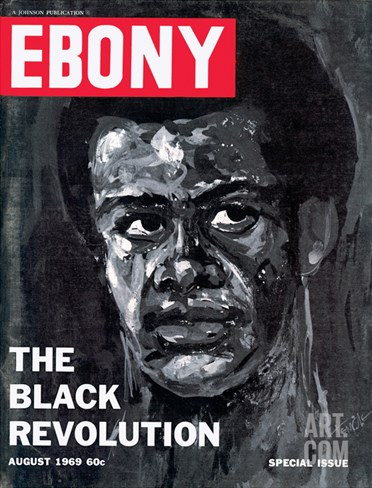 Ebony August 1969 Stretched Canvas Print