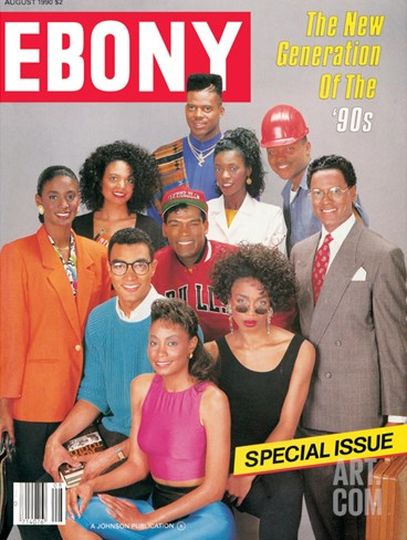 Ebony August 1990 Stretched Canvas Print