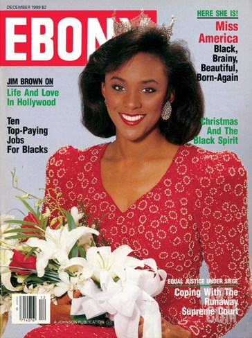 Ebony December 1989 Stretched Canvas Print