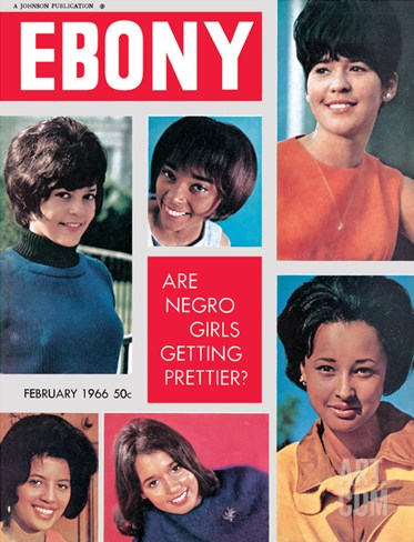 Ebony February 1966 Stretched Canvas Print