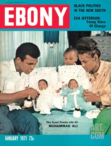 Ebony January 1971 Stretched Canvas Print