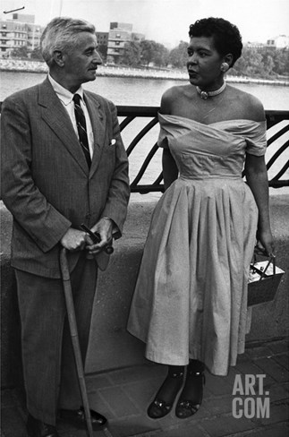 Billie Holliday and Author William Faulkner - 1956 Stretched Canvas Print