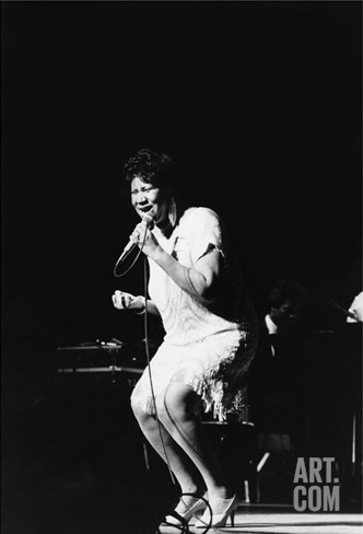 Aretha Franklin - 1985 Stretched Canvas Print