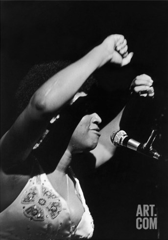 Aretha Franklin - 1972 Stretched Canvas Print