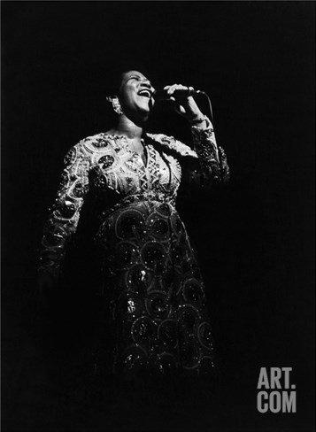 Aretha Franklin Stretched Canvas Print