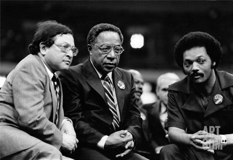 Ernest Morial, Alex Haley, Rev. Jesse Jackson Stretched Canvas Print