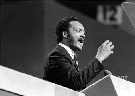 Jesse Jackson - 1984 Stretched Canvas Print