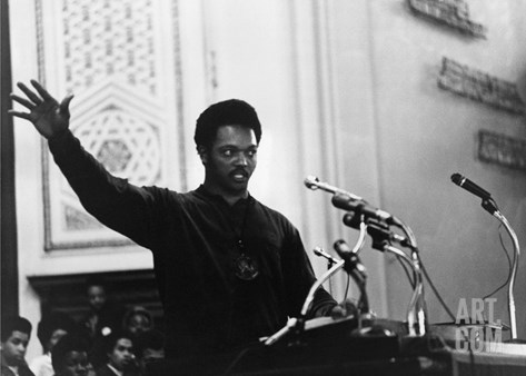 Jesse Jackson - 1969 Stretched Canvas Print