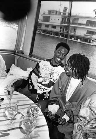 Eddie Murphy and Whoopi Goldbery - 1986 Stretched Canvas Print