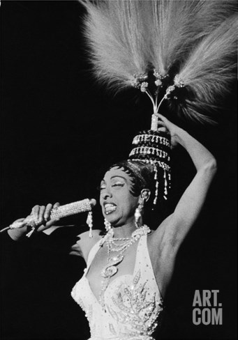 Josephine Baker - 1960 Stretched Canvas Print