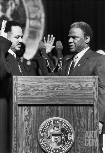 Harold Washington,Charles Freeman Stretched Canvas Print